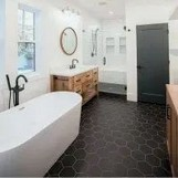 18 Comfy Bathroom Floor Design Ideas 17