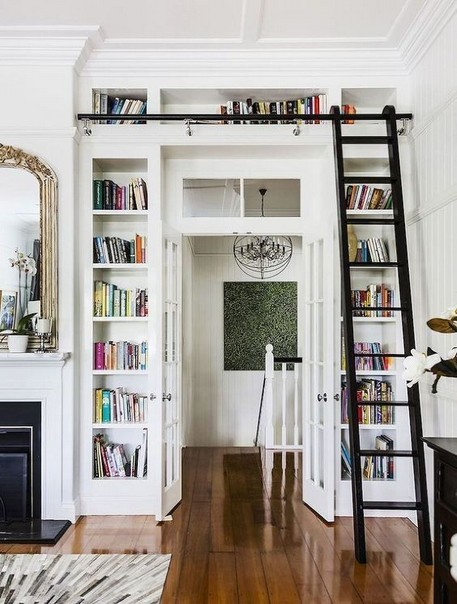 18 Fantastic Floor To Ceiling Bookshelves With Ladder 05