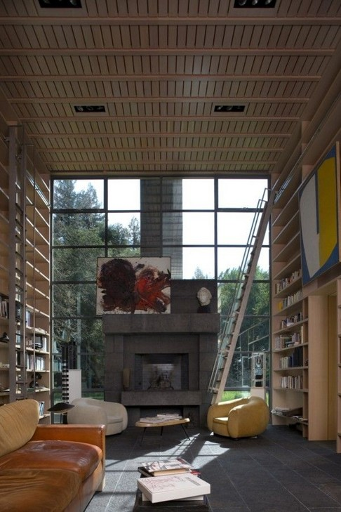 18 Fantastic Floor To Ceiling Bookshelves With Ladder 16