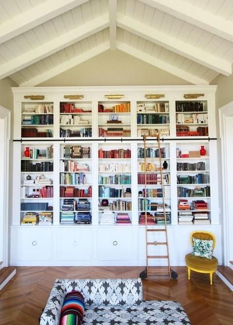 18 Fantastic Floor To Ceiling Bookshelves With Ladder 21