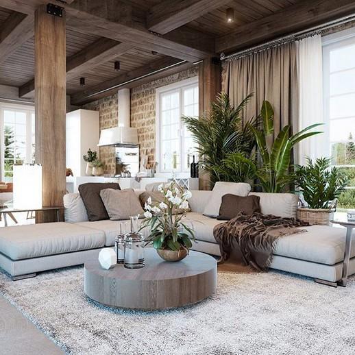 18 Modern Rustic Living Room Furniture 18