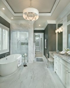 19 Pleasurable Master Bathroom Ideas 11