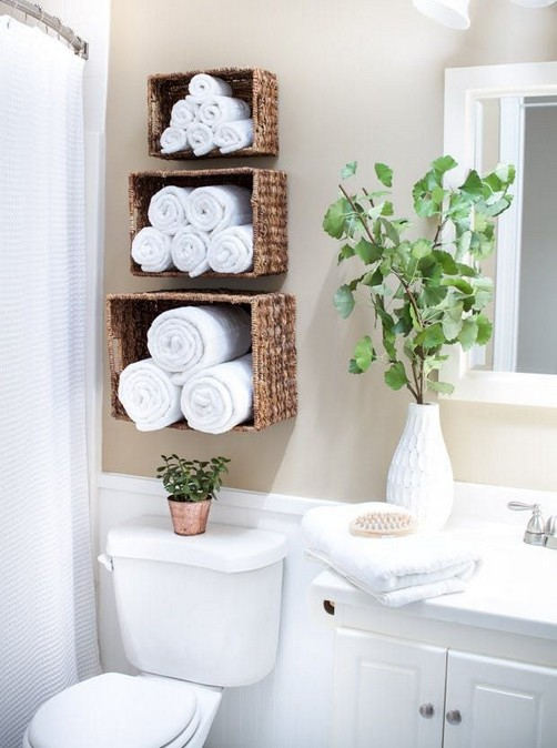 19 Small Bathroom Storage Decoration Ideas 02