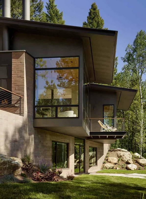 17 Beautiful Mountain Cabin Plans Hillside 12