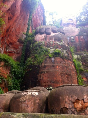 No big deal--that's just a mountain-sized buddha.