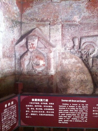 Ancient tomb-side cave carvings.
