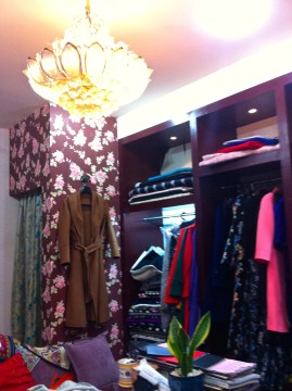 The changing room on the left is actually a luxury in Chinese tailor shops.