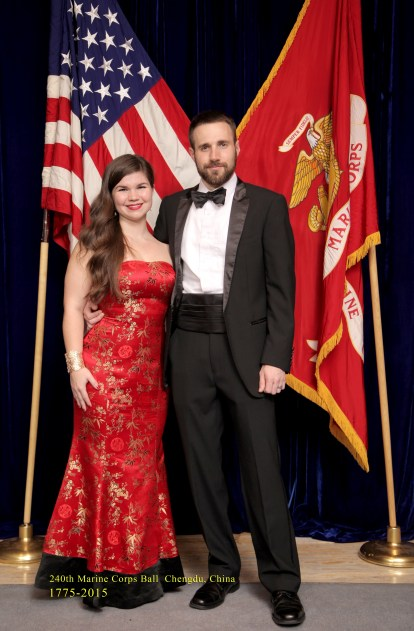 Husband and I, rocking our tailor-made formal gear at Marine Corps Ball.
