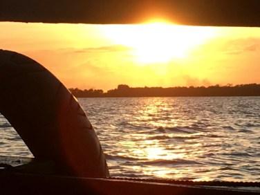 The start of sunset.