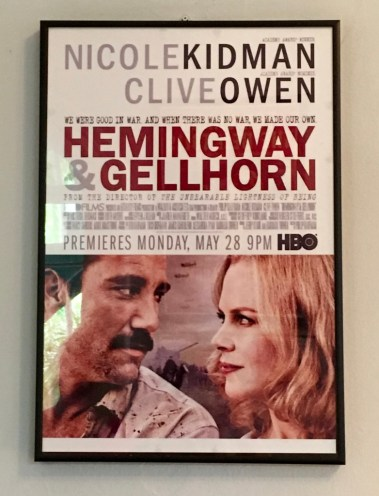 A movie featuring Hemingway and wife no. 3, American novelist, travel writing, and journalist Martha Gellhorn.