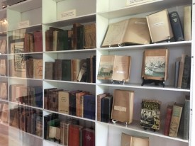 A few pieces of Hemingway's private library. Most of his books reside in Cuba.