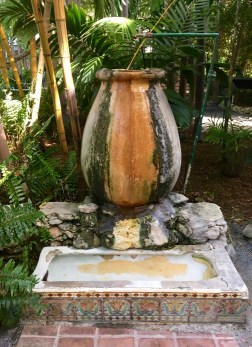 Note the base of this fountain: a urinal Hemingway acquired from a local Key West bar.