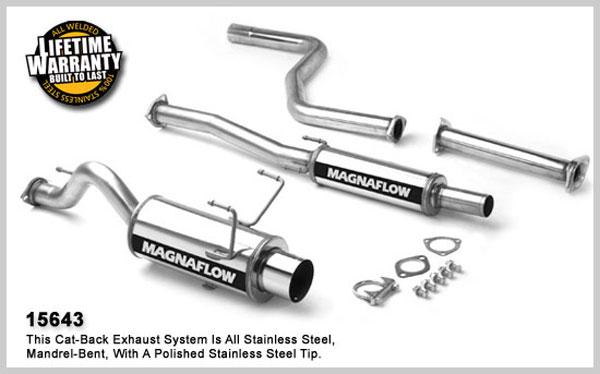 Magnaflow 15643: Exhaust System for HONDA CIVIC CX 1992-2000