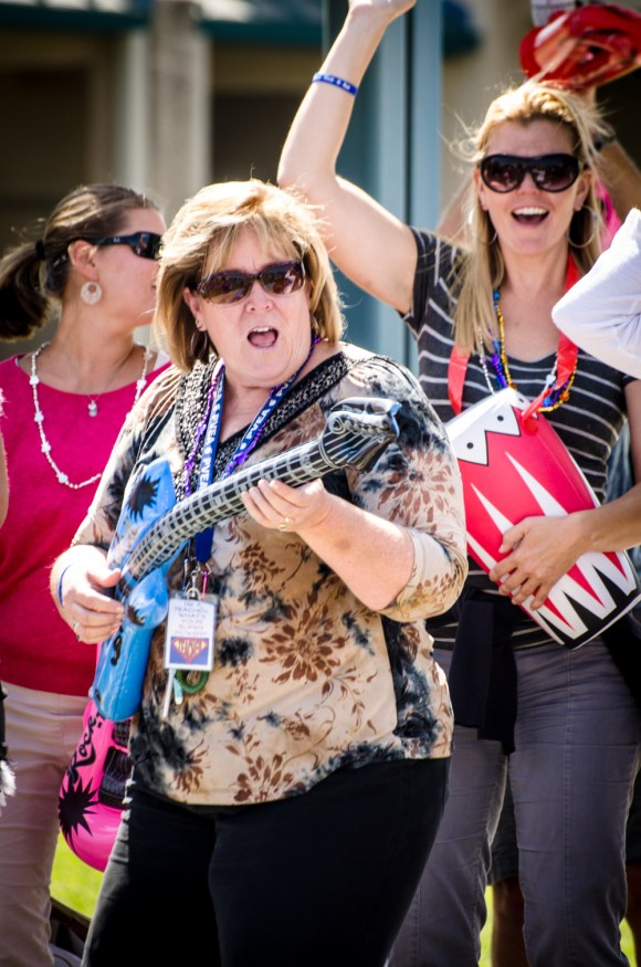 Mrs. Davis rockin' out.
