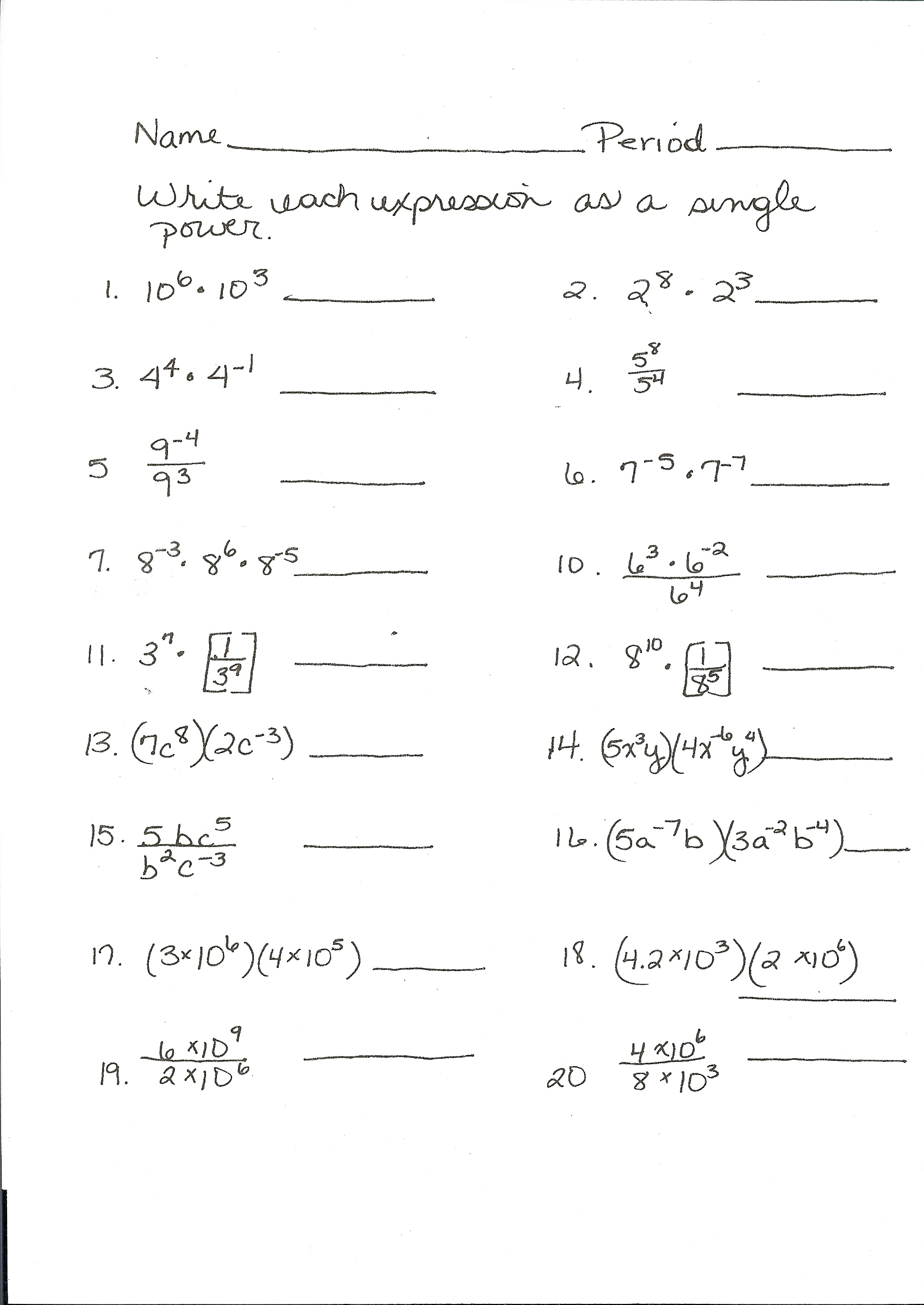 Algebra 1a 3 8 Solving Literal Equations Answers
