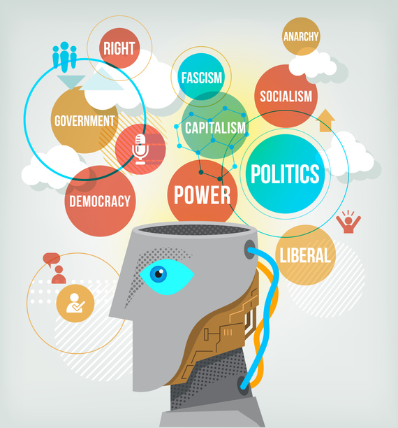 Image of bubbles with words Right, Government, Democracy, Power, Politics, Capitalism, Fascism, Anarchy, Socialism, Liberal