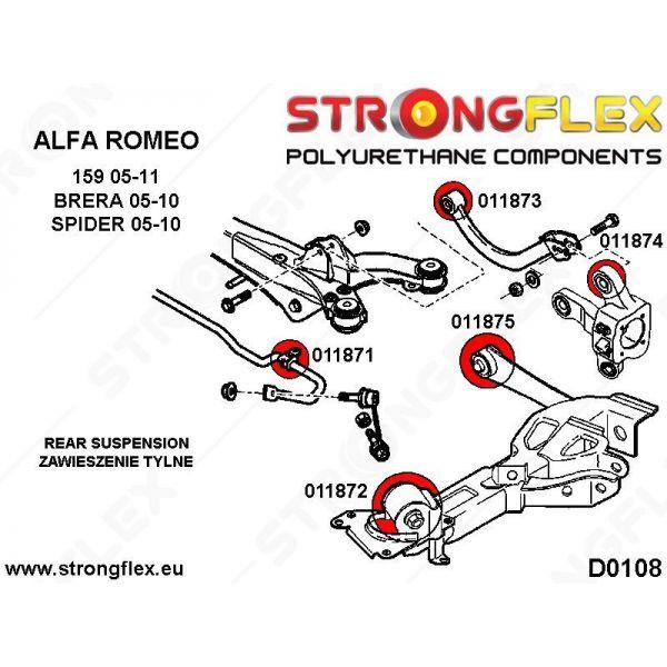 Strongflex Hátsó alsó lengéscsillapító felfüggesztő