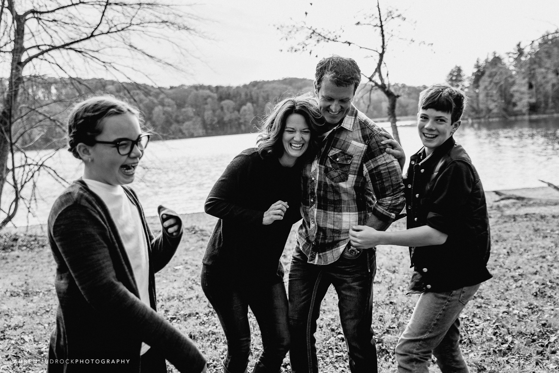 Pollard family photo session Lake Williams Jacobus PA