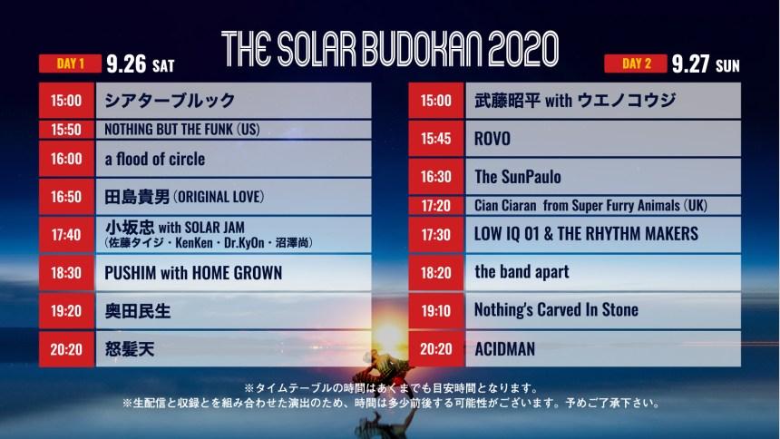 THE SOLAR BUDOKAN 2020