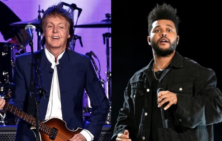 Paul McCartneyやThe Weeknd