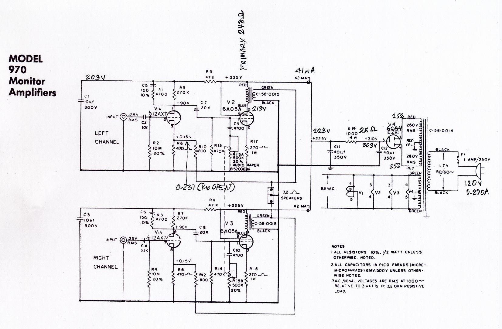 Ampex 970 Playback Amp