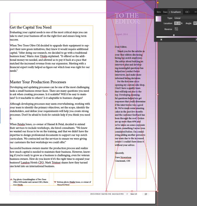 Lesson 8 - Editing gradients 1