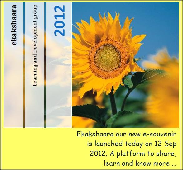 Ekaakshara – Vol 1 – September 2012
