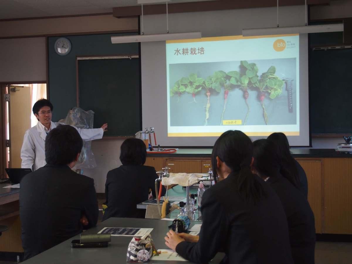 10月28日実験教室を行いました(福島県立新地高等学校)