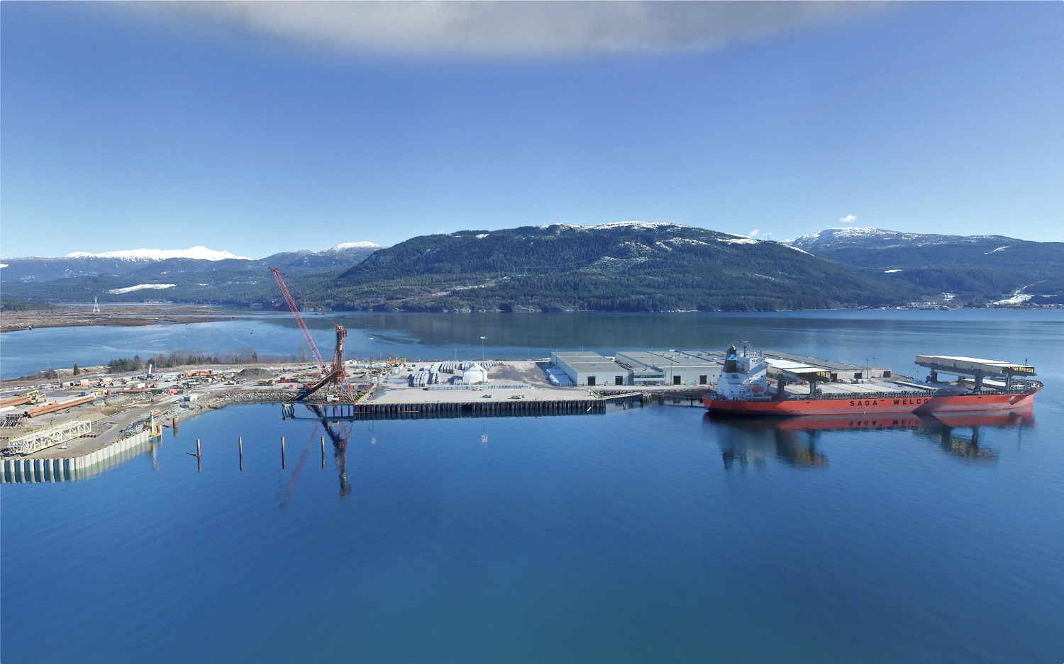 Check out a few new construction photos from March 2021, including: the marine t...