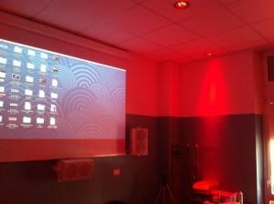 La sala audio, video e luci dedicata alla stimolazione sensoriale installata presso l'Eremo di Miazzina (VB)