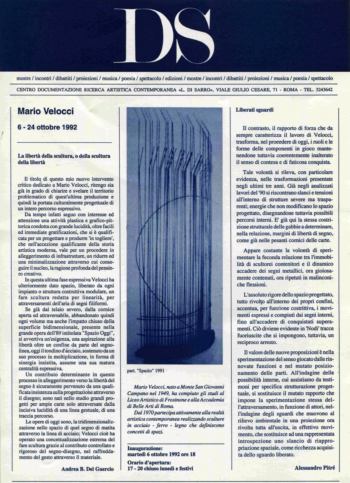 Mario Velocci 6 - 24 ottobre 1992