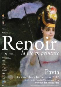 il manifesto della mostra di Renoir a Pavia