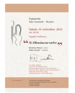 """manifesto del concerto \""""si alfonsina no vuelve\""""peduzzi saccher"""