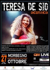 la locandina del concerto di Teresa De Sio a Morbegno il 27 ottobre 2012