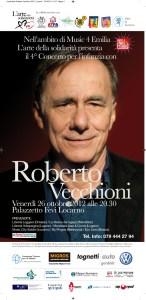 locandina Roberto Vecchioni a Locarno il 26 ottobre 2012