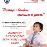 la locandina della lezione mdPed CRI Novate 20131130