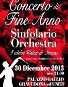 la locandina di Sinfolario concerto di fine anno 2013