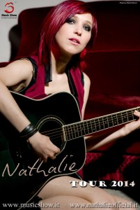Nathalie il manifesto del tour 2014