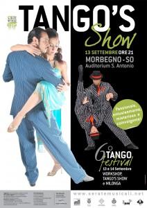 la locandina del 6° festival di Tango a Morbegno