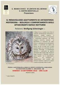 Wollfgang Scherzinger serata al Museo Civico di Lentate del 23 set 2016