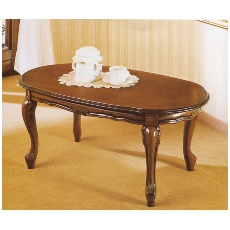tavolo da salotto classico in legno ovale  IlBottegonebiz