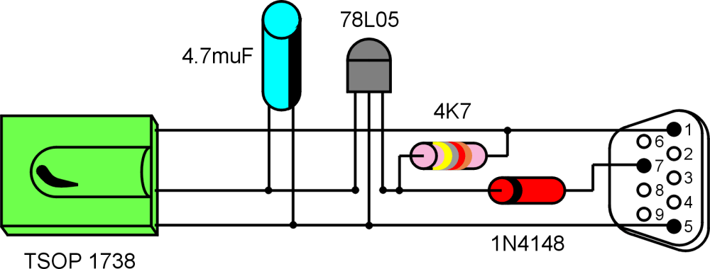 medium resolution of color component view of the circuit
