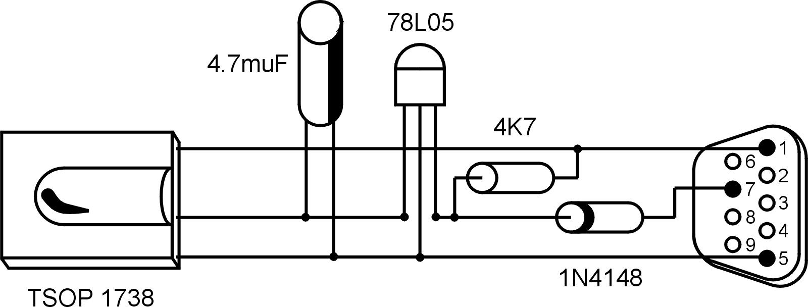 hight resolution of component view of the circuit