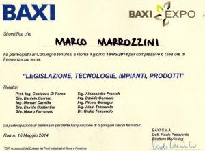 Certificato BAXI_Roma
