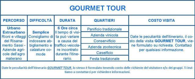 Matera Gourmet tour