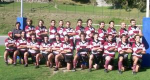 Ecco il XV grigio amaranto stagione 2009/2010 all'esordio contro il Valtellina Rugby
