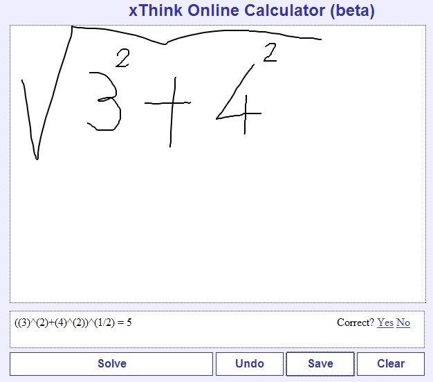 Calcolatrice visuale, tu scrivi la formula lei legge e risolve