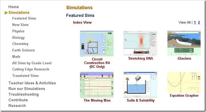Simulazioni interattive