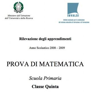 Prove Invalsi scuola primaria, anno 2008/2009