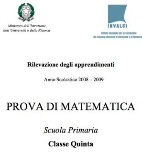 invalsi 2009 quinta elementare